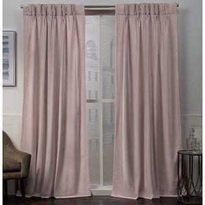 Blush pink curtains